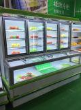 スーパーマーケットのための温度のCombiの二重フリーザー