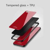 El caso del teléfono de vidrio templado para el iPhone 8