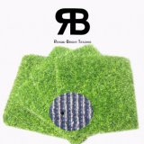 20mm de 3/8 pulgada de Anti-UV la decoración del paisaje de hierba del campo de césped artificial sintético para jardín Home