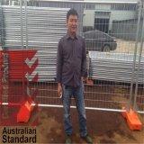 84 Mikrons Zink-Schicht-voll heiße eingetauchte galvanisierte temporäre Zaun-