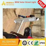 Im Freien integrierte Solar-LED Garten-Straße alle der Beleuchtung-80W100W120W in einem Licht mit Fernsteuerungs