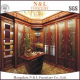 N&L hölzerne Garderoben-Schrank-Wandschränke mit dem Schieben der Spiegel-Garderoben-Türen