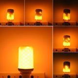 la decoración dinámica de la Navidad de la emulación del parpadeo de la lámpara del fuego del efecto de la llama del bulbo del maíz de 85V-265V LED enciende la lámpara del fuego de la simulación del LED