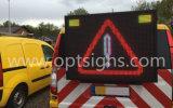 Opgezette Vrachtwagen van het Aanplakbord van de weg de Zij Digitale het Vouwen van de LEIDENE van de Auto van het Bericht van het Verkeer Vertoning van het Teken