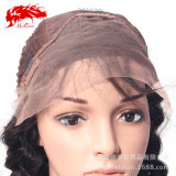 Indio mayorista onda Natural 130% completo de la densidad de encaje peluca cabello humano.