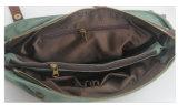 Borse convenzionali del computer portatile della cartella dell'uomo di affari del sacchetto di spalla della tela di canapa e del cuoio (RS-6870)