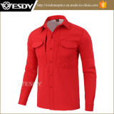 Agression armée militaire rouge chaud Vêtements Softshell Fleece Shirt