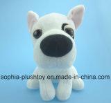 Brinquedo de cachorro de pelúcia macio e branco Brinquedo de cachorro branco
