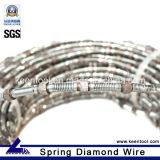 Fil de diamants et perles de scie de coupe sec et humide de marbre travertin de calcaire