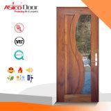 Porte en bois lambrissée par glace entièrement solide
