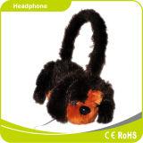 プラシ天のたくわえは保護する冬の漫画のおもちゃのステレオヘッドホーンの耳を警告する