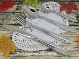 Nouvelle conception de la Coutellerie Cuillère en acier inoxydable de la fourche de la Coutellerie de couteau