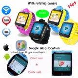 回転カメラ3.0mが付いている3G WiFi GPSの追跡者の腕時計