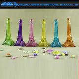 Bottiglia di vetro per arte e Decortaion domestico, figura della Torre Eiffel