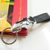 PU de encargo Keychain de cuero de la promoción