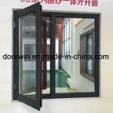 브라운 색깔 Outswing Windows 두 배 집을%s 열 틈 알루미늄 Windows