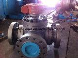 Válvula de esfera da flange da maneira da alta pressão três