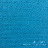 Le tissu de sofa de polyester a gravé le velours en relief pour des usages de meubles