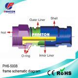 Komprimierung-Kabel-Verbinder des Brasial Markt-RG6 für Koaxialkabel