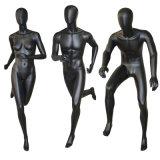 Манекен идущих женщин спорта женский с стеклянным основанием
