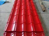 El color galvanizado difícilmente acanalado del soldado enrollado en el ejército PPGI pinta por completo la hoja de acero revestida del material para techos