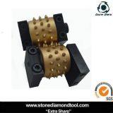 Granit-Oberflächenlitschi-Bush-Hammer-Hilfsmittel mit Öldichtungs-Rolle