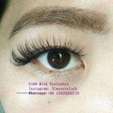 Croix de maquillage faux cils 100% réelle Le Vison Cils Extension
