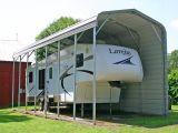 Cochera metálica de acero cubiertas de RV Carports &Barco