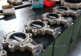 세륨 ISO Wras (CBF01-TL01)를 가진 러그 패턴 알루미늄 청동 나비 벨브