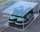 Boîte de présentation acrylique de chaussure de perspex en cristal clair
