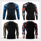 Das camisolas coloridas aptas das luvas do corpo desgaste Stretchable do esporte dos homens