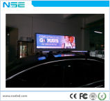 Pantalla de visualización publicitaria electrónica al aire libre superior de LED del taxi P5