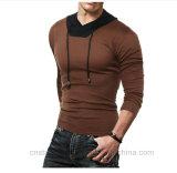 Mens 우연하가 Hoodie에 의하여 꼭대기에 오르는 긴 소매 셔츠는 적당한 V 목 스웨터 t-셔츠 소식통을 체중을 줄인다