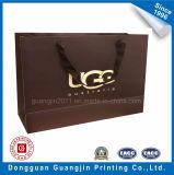 Custom Handmade bolsa de papel kraft para ir de compras