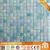 青いカラープールの壁および床のガラスモザイク(H455021)