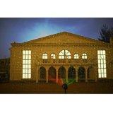 El jardín rojo del laser del verde enciende la iluminación del proyector del paisaje