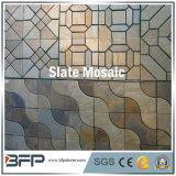 Rusty Vente chaude de l'Ardoise Mosaïque pour la Décoration de mur extérieur