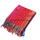 2016女性のための民族様式のPashminaの虹のアクリルのスカーフ