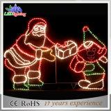 대중적인 휴일 LED 크리스마스 산타클로스 훈장 빛