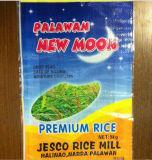 Sac tissé par pp transparent de qualité pour le riz