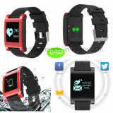 Wasserdichtes Bluetooth intelligentes Silikon-Armband mit Puls-Monitor Dm68