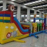 Carrera de Obstáculos inflable con tobogán
