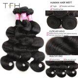 Piar 7um grau 100% virgem malaio Remy Tecelagem de fio de cabelo humano trama de cabelo cor Preta Natural Remy Extensões de cabelo podem ser tingidos (TFH18)