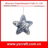 Regalo di promozione del tessuto di natale del cappello a cilindro dell'albero della stella di natale della decorazione di natale (ZY11S216)