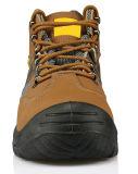 De beste Verkopende Echte Schoenen van de Veiligheid van de Teen van het Staal van het Leer (HD. 0833)