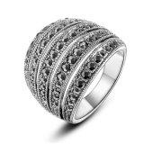 Marcasite Form-Ring-Weinlese-Silber-Kostüm-Ring
