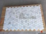 Wall와 Floor를 위한 이탈리아 Bianco Calacatta Stone Marble Mosaic