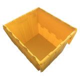 750*570*625mm venda quente a logística de Armazenamento Anexado Recipiente de tampa de plástico