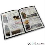 Impression de luxe de catalogue avec l'endroit de Stampingand de clinquant UV à toutes les pages