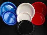 PS colorés de la plaque en plastique jetables